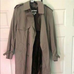 Towne London fog trench coat 42 regular with belt